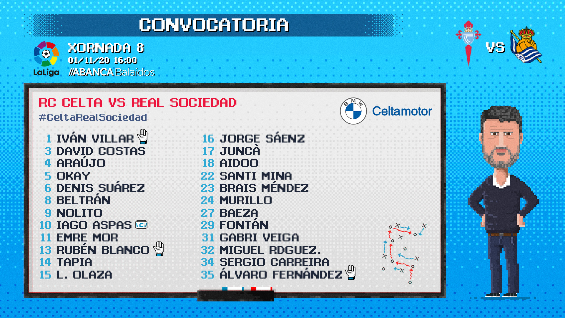 CONVOCATORIA CELTA REAL SOCIEDAD 311020